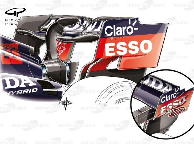 Red-Bull-Heckflügel im Vergleich