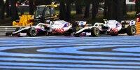Beinahekollision zwischen Nikita Masepin und Mick Schumacher und beim Grand Prix von Frankreich in Le Castellet (Circuit Paul Ricard) 2021