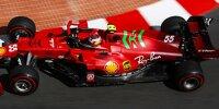 Carlos Sainz im Ferrari SF21