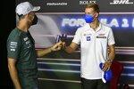 Sebastian Vettel (Aston Martin) und Mick Schumacher (Haas)