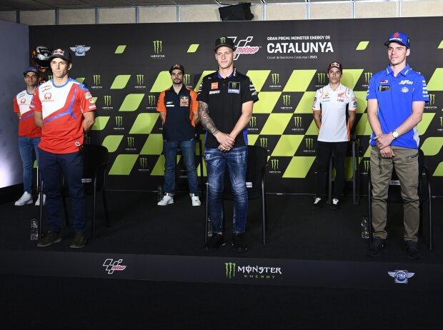 Jorge Martin, Johann Zarco, Miguel Oliveira, Fabio Quartararo, Marc Marquez, Joan Mir, Remy Gardner