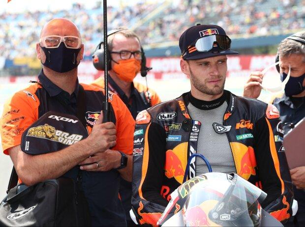 KTM-Pilot Brad Binder in der Startaufstellung zum MotoGP-Rennen in Assen