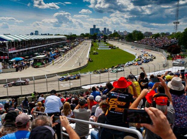 Start zum IndyCar-Rennen in Detroit 2019