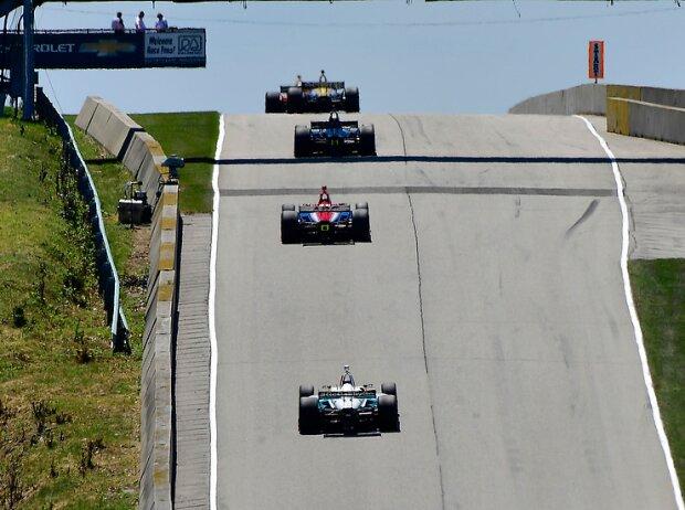 IndyCar-Action auf der Rennstrecke Road America in Elkhart Lake