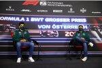Lance Stroll (Aston Martin) und Sebastian Vettel (Aston Martin)