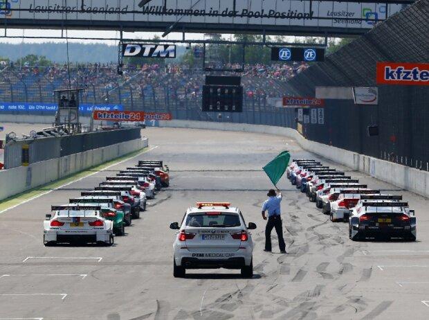 Start zum DTM-Rennen auf dem Lausitzring 2016