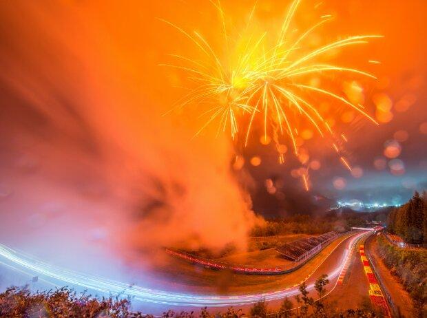 Feuerwerk bei den 24 Stunden von Spa 2020