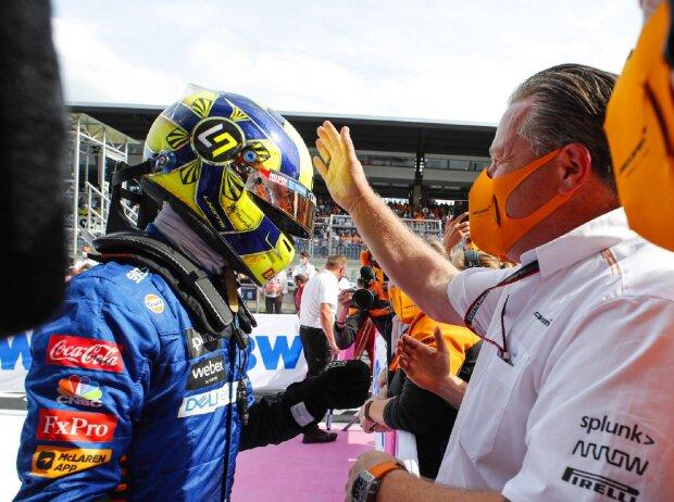 Lando Norris (McLaren) im Training zum Großen Preis von Österreich der Formel 1 auf dem Red-Bull-Ring in Spielberg