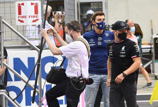 George Russell Valtteri Bottas Williams Williams Formula 1 ~ George Russell (Williams) e Valtteri Bottas (Mercedes) ~