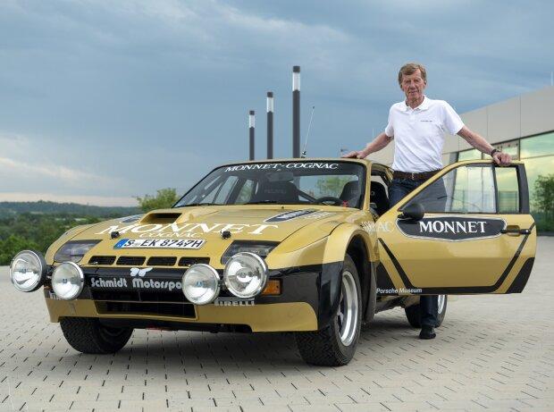 Walter Röhrl und der Porsche 924 Carrera GTS Rallye