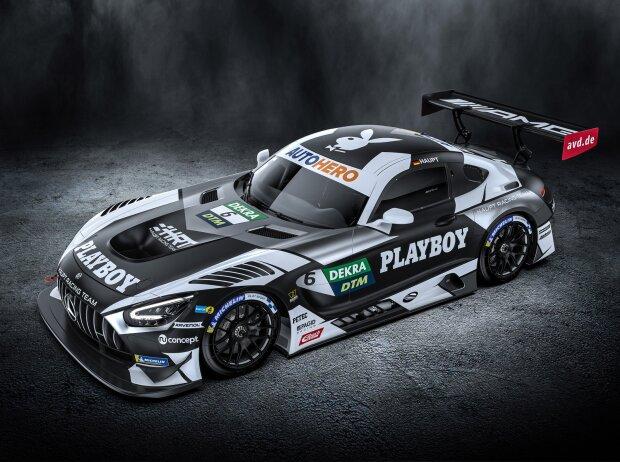 Mercedes-AMG des Haupt-Racing-Teams (HRT) von Hubert Haupt in den Farben von Hauptsponsor Playboy