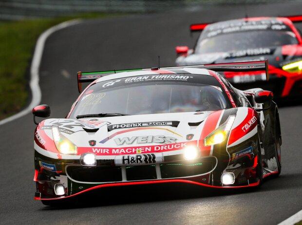 Ferrari 488 GT3 des Teams Wochenspiegel beim Rennen der Nürburgring-Langstrecken-Serie (NLS)