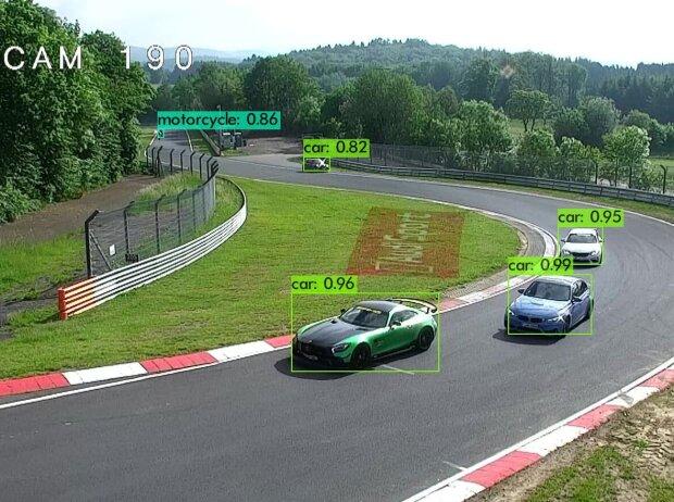 Bild des Überwachsungssystems auf der Nürburgring-Nordschleife