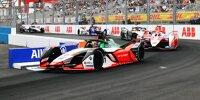 Formel-E-Autos beim Rennen in New York 2021