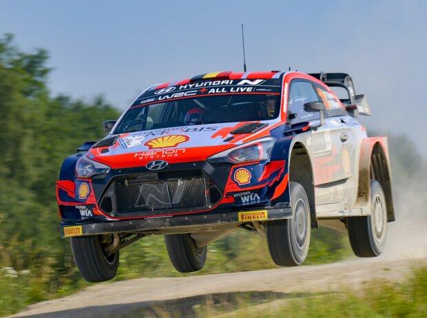 Thierry Neuville beim Shakedown der Rallye Estland 2021