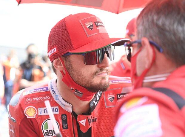 Ducati-Pilot Jack Miller wartet in der MotoGP-Startaufstellung