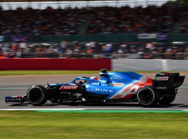 Esteban Ocon (Alpine) beim Großen preis von Großbritannien der Formel 1 in Silverstone