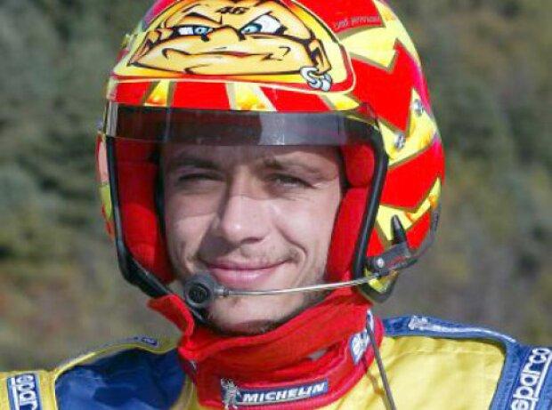 Valentino Rossi bei seinem WRC-Debüt für Peugeot bei der Rallye Großbritannien 2002