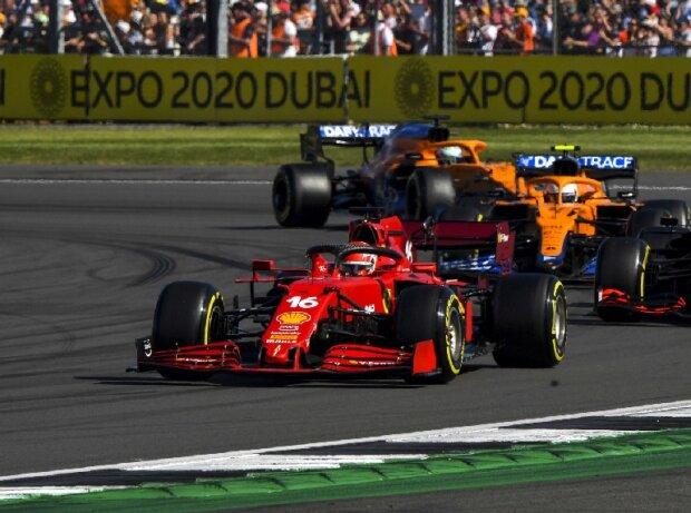 Charles Leclerc (Ferrari) im Formel-1-Sprint zum Großen Preis von Großbritannien in Silverstone