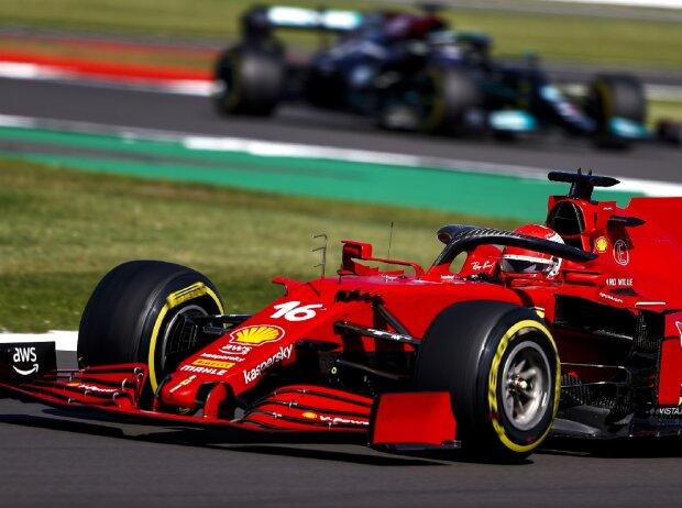 Charles Leclerc (Ferrari) beim Großen Preis von Großbritannien der Formel 1 in Silverstone