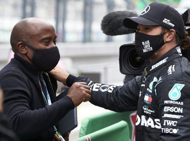 Formel-1-Pilot Lewis Hamilton und sein Vater Anthony Hamilton