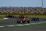 Max Verstappen (Red Bull), Valtteri Bottas (Mercedes), Charles Leclerc (Ferrari) und Sergio Perez (Red Bull)