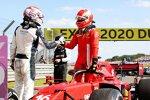 George Russell (Williams) und Charles Leclerc (Ferrari)