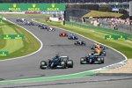 Lewis Hamilton (Mercedes), Valtteri Bottas (Mercedes), Lando Norris (McLaren) und Daniel Ricciardo (McLaren)