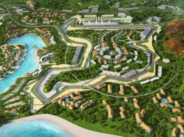 Geplantes Streckenlayout des Mandalika Street Circuit auf Lombok in Indonesien
