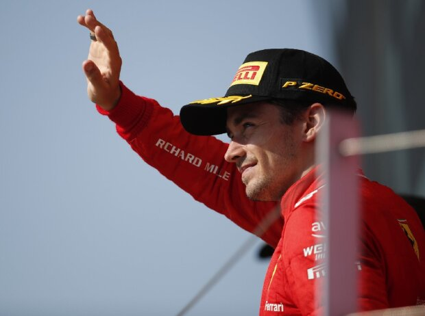 Charles Leclerc (Ferrari) nach dem Großen Preis von Großbritannien der Formel 1 in Silverstone