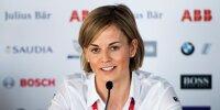 Venturi-Teamchefin Susie Wolff während einer Pressekonferenz der Formel E