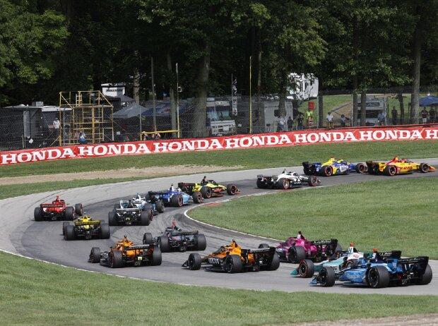 IndyCar-Action auf dem Mid-Ohio Sports Car Course