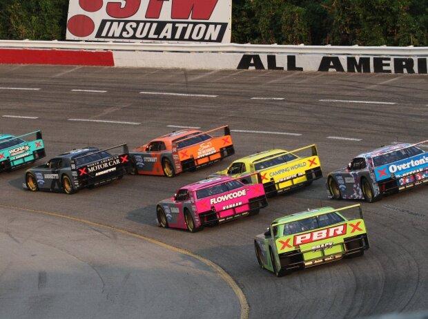 SRX: Renn-Action der Superstar Racing Experience 2021 auf dem Nashville Fairgrounds Speedway