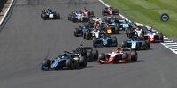Start des Hauptrennens der Formel 2 in Silverstone 2021