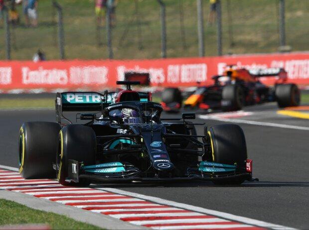 Lewis Hamilton (Mercedes) im Freien Training der Formel 1 2021 in Budapest (Ungarn)