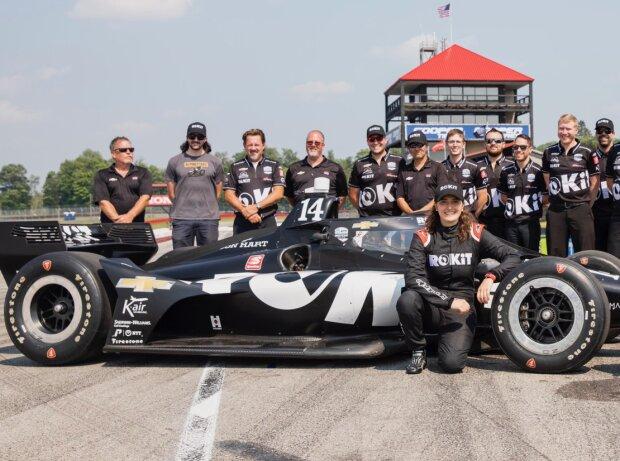Tatiana Calderon nach ihrem ersten IndyCar-Test für A.J. Foyt Racing in Mid-Ohio