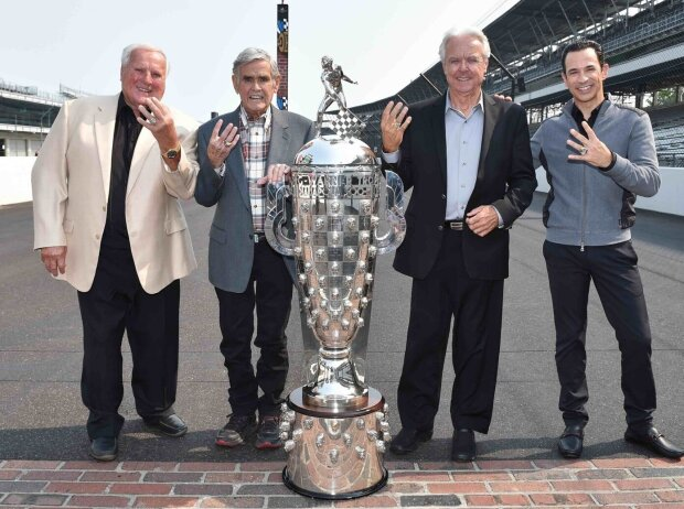 A.J. Foyt, Al Unser, Rick Mears, Helio Castroneves