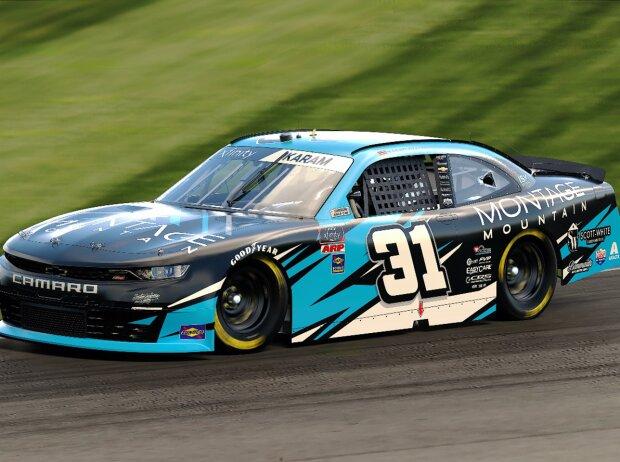 Sage Karam im NASCAR Xfinity-Auto (Computergrafik)