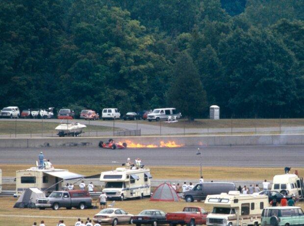 Emerson Fittipaldis Unfall beim CART-Rennen 1996 auf dem Michigan Speedway