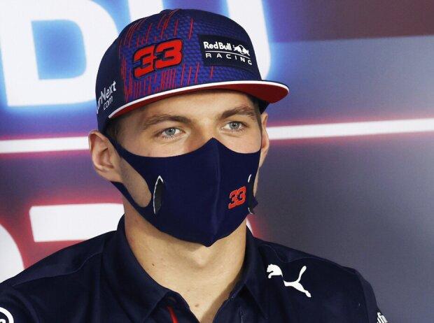 Max Verstappen (Red Bull) in der Donnerstags-Pressekonferenz beim Grand Prix von Ungarn am Hungaroring bei Budapest 2021