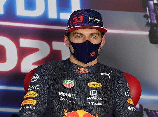 Max Verstappen (Red Bull) in der Pressekonferenz nach dem Qualifying in Ungarn