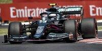 Sebastian Vettel (Aston Martin) im Qualifying zum Formel-1-Rennen in Budapest auf dem Hungaroring