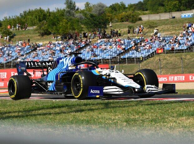 George Russell im Williams-Mercedes FW43B beim Grand Prix von Ungarn der Formel 1 2021 auf dem Hungaroring bei Budapest