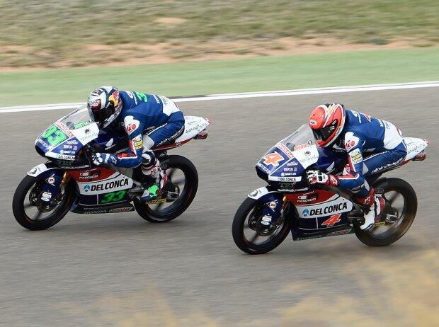 Enea Bastianini und Fabio Di Giannantonio als Gresini-Teamkollegen in der Moto3-Saison 2016