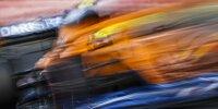 Ein verwackelter Lando Norris (McLaren) im Qualifying zum Formel-1-Rennen in Ungarn