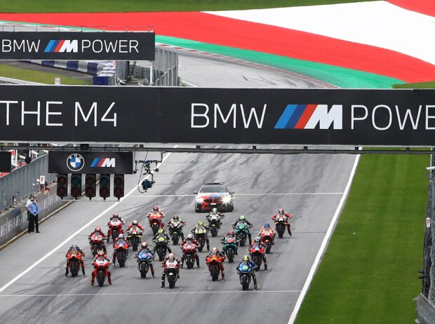 Start zum GP Steiermark 2020 auf dem Red-Bull-Ring in Spielberg