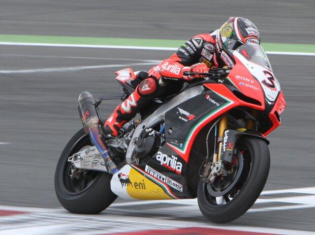 Max Biaggi in der Superbike-WM 2012 auf Aprilia
