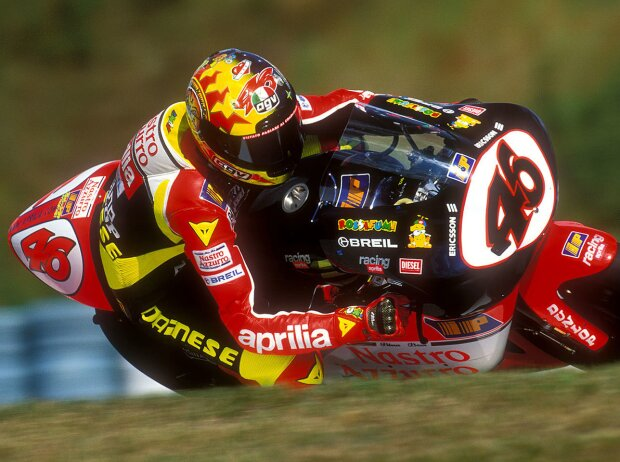 Valentino Rossi in der 250er-Saison 1998 auf Aprilia