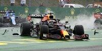 Max Verstappen (Red Bull) nach dem Startunfall in Ungarn