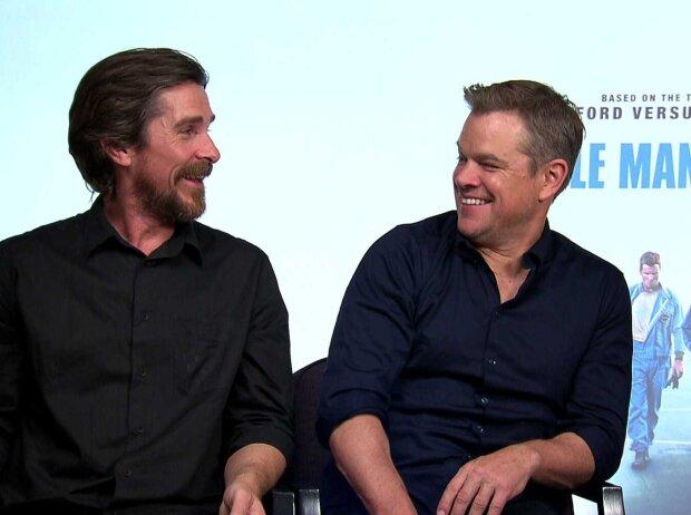 "Christian Bale und Matt Damon aus dem Film ""Le Mans 66 - Gegen jede Chance"""
